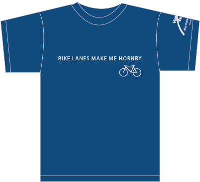 Bike Lanes Make Me Hornby T-Shirt