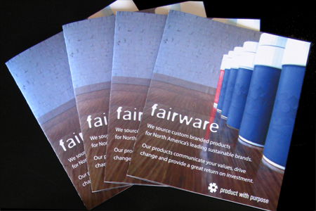 Fairware brochure fan