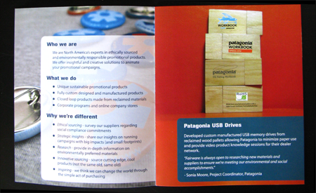 first page Fairware brochure